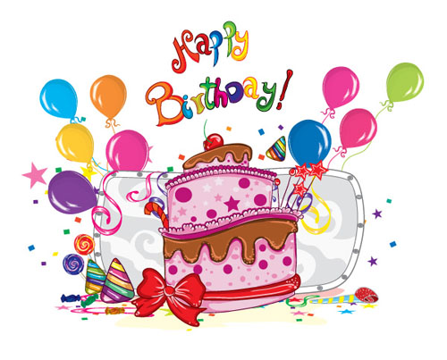 Awesome Birthday Cake Balloon Vector Free Download Funny Birthday Cards Online Alyptdamsfinfo