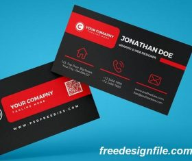 Black Corporate Psd Business Card Template