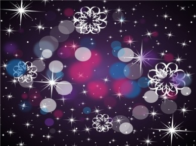 Black Gradient Stars background vector
