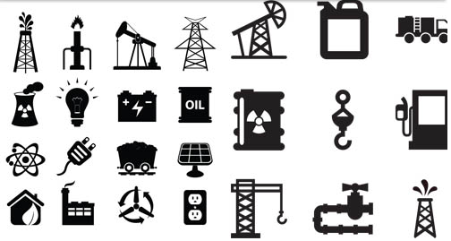 Black Oil Icons design vector