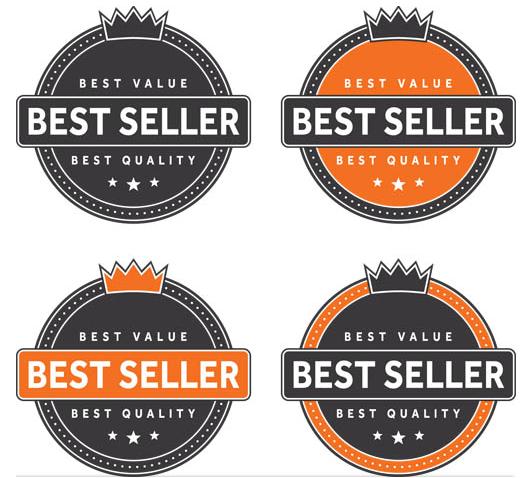 Black Retro Sale Labels art vector