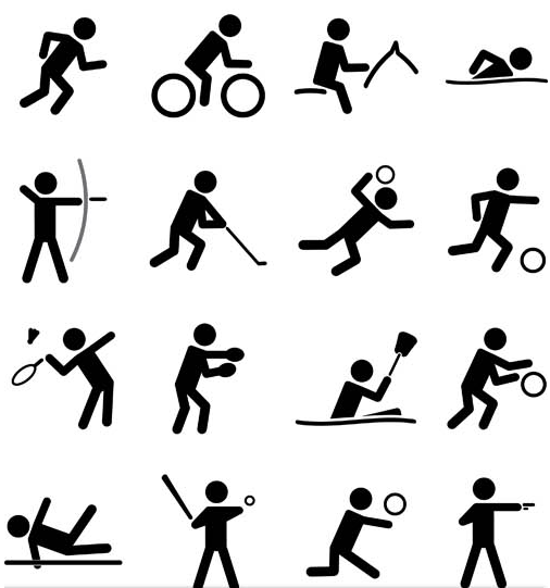 Black Sport Icons Set 3 vector