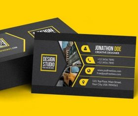 Black Styles Business Card PSD Template