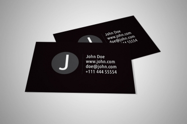Black and white personal business card vector