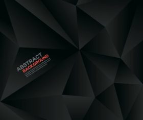 Black geometric polygon background vector
