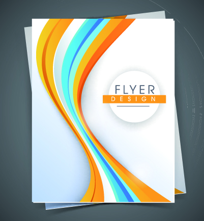 Blank Flyer Template vector graphics