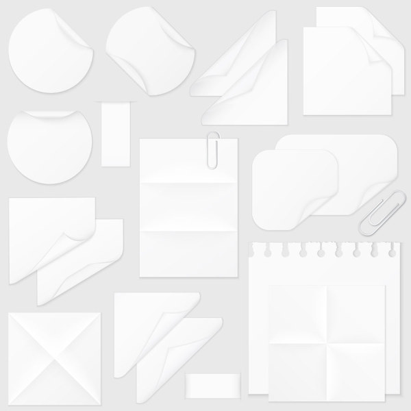 Blank paper 1 vector