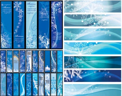 Blue Christmas banners background Illustration vector