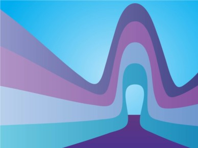 Blue Curves background vector graphic