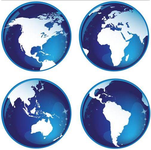 Blue Glass Globes vector design