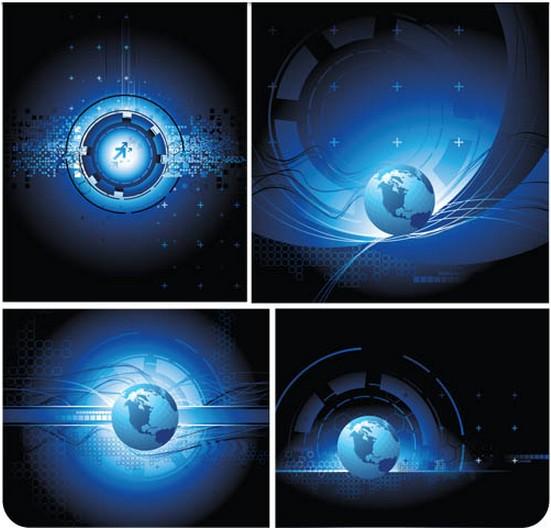 Blue Globe Backgrounds art vector