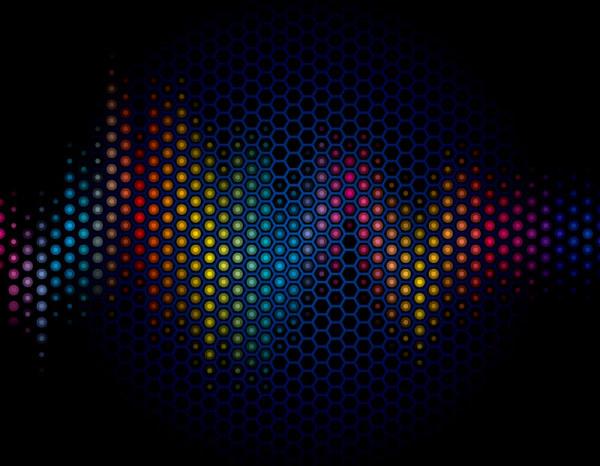 Blue Halation background 2 vector