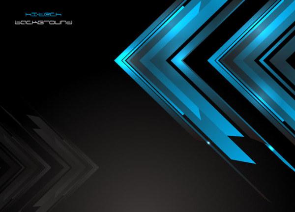 Blue Halation background 6 vector