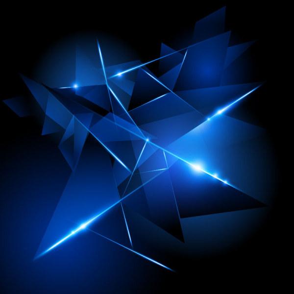 Blue Halation background 7 vector