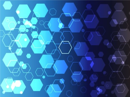 Blue Hexagon Theme creative vector