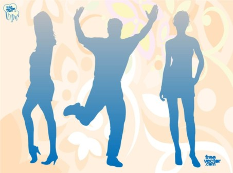 Blue Silhouettes vector graphics