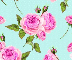 Blue background peony flower texture pattern vector