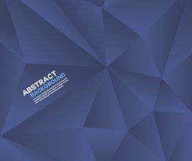 Blue geometric polygon background vector