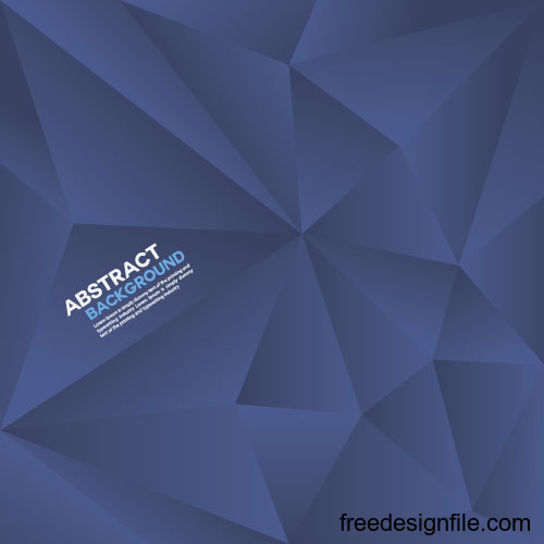 Blue geometric polygon background vector