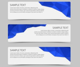 Blue polygon with banner template vector