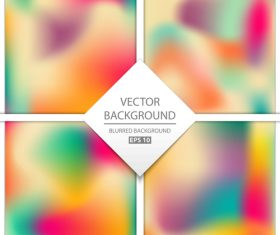 Blurred multicolor background art vectors graphic 02