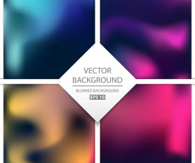Blurred multicolor background art vectors graphic 03
