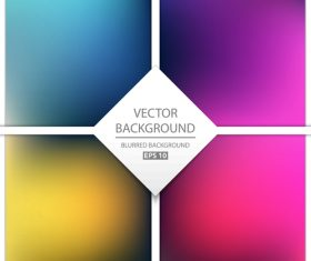 Blurred multicolor background art vectors graphic 04