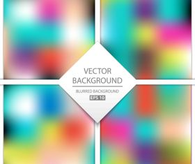 Blurred multicolor background art vectors graphic 05
