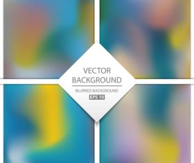 Blurred multicolor background art vectors graphic 08