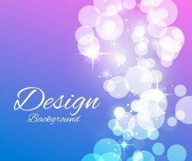 Bokeh styles with colored backgrounds vector 01