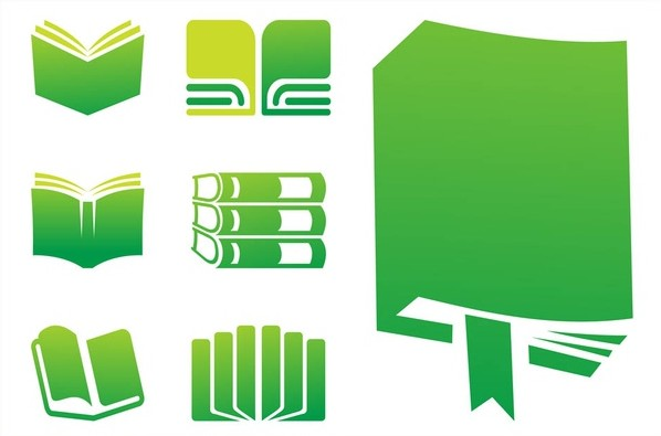 Books Icons Graphics vector
