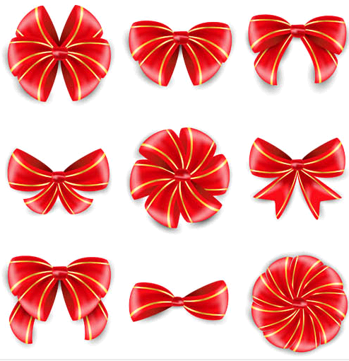 Bows graphic set vector