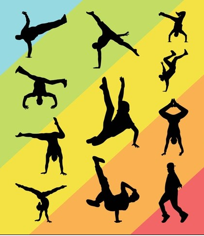 Breakdancers Graphics Set vector