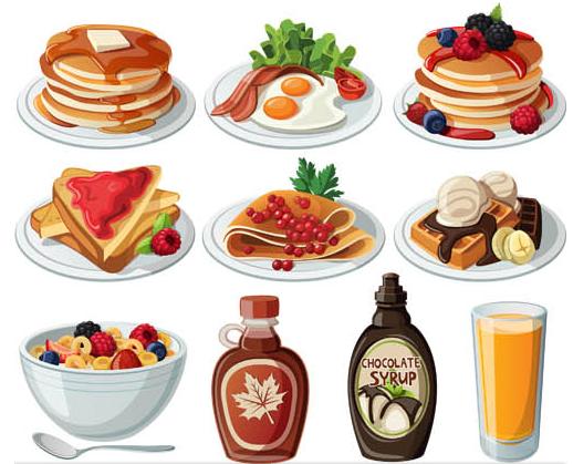 Breakfast Set vector