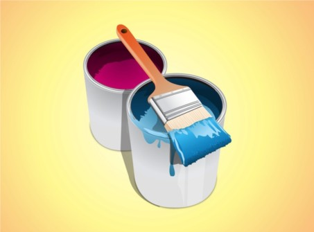 Buckets Paint vector