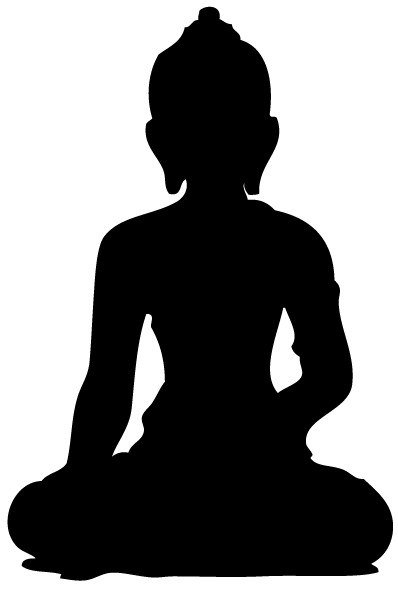 Buddh Silhouette vectors graphic