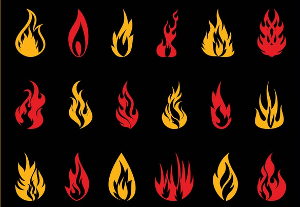 Burning Flames vector