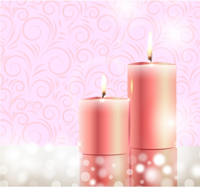Burning candle Free vectors graphic