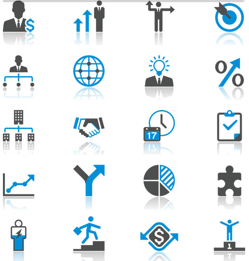 Business Blue Icons 2 creative vector