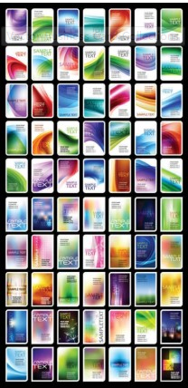 Business Card Collections shiny vector
