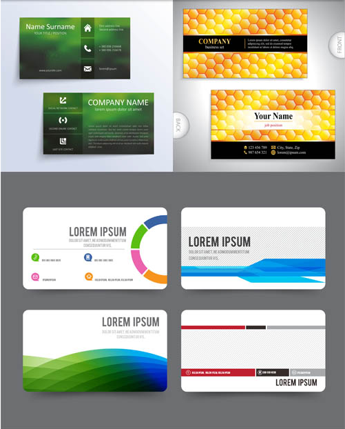 Business Cards Designs 11 vector graphics