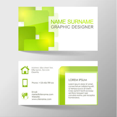 Business Cards Designs 9 shiny vector