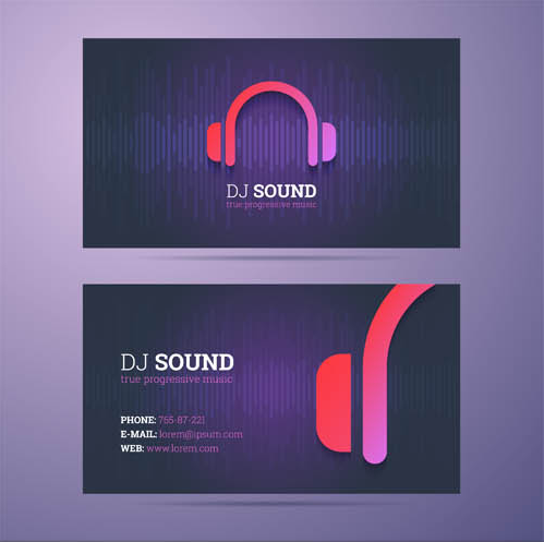 Business Cards Set 12 creative vector