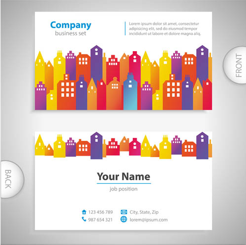 Business Cards Set 13 vector