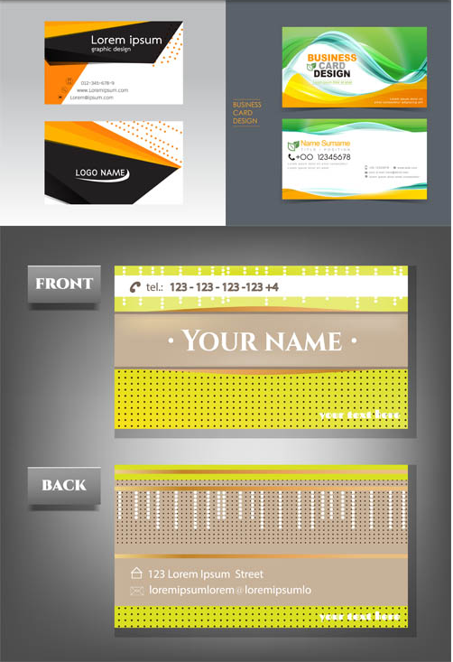Business Cards Set 14 vector graphics