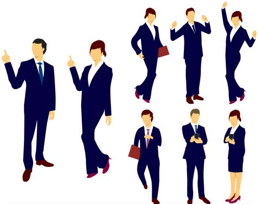 Business Color People set vector
