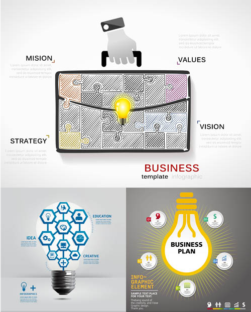 Business Ideas Backgrounds 10 vector