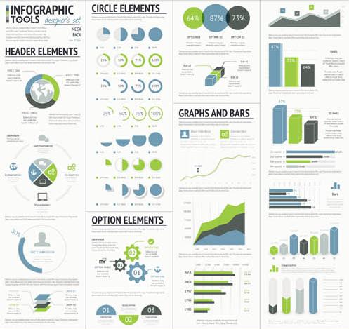 Business Infographics Elements 14 vector