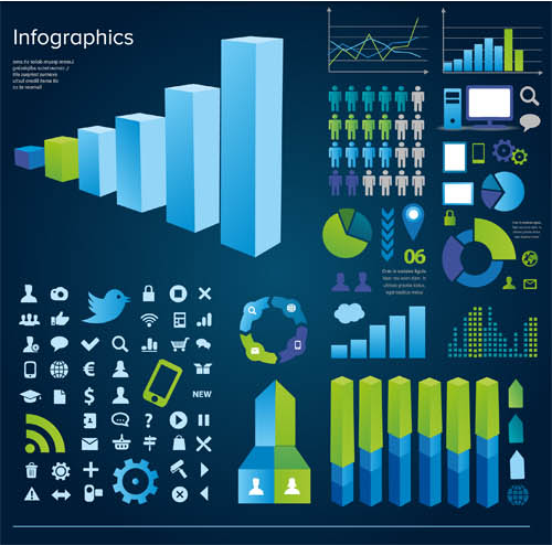 Business Infographics Elements 6 vector