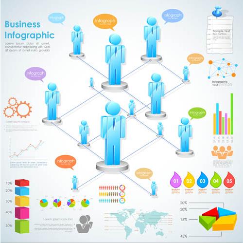 Business Infographics Set vector design